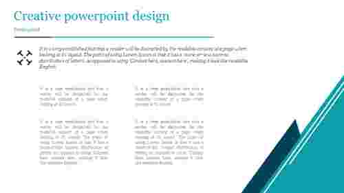 A two noded Creative powerpoint design