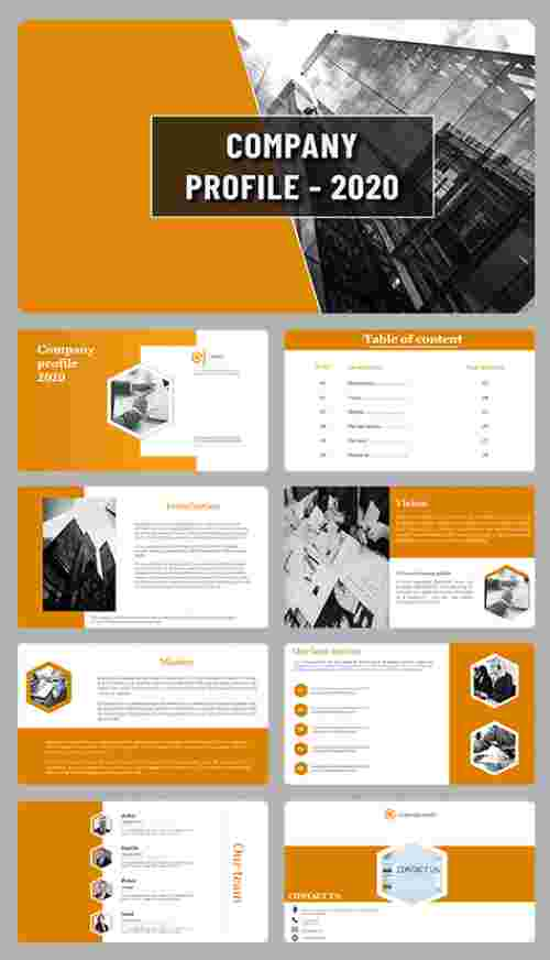A eight noded company profile powerpoint presentation