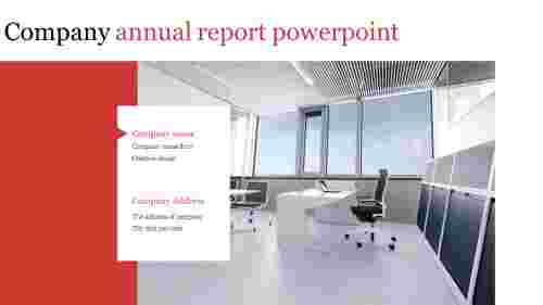 A two noded annual report powerpoint