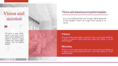 A two noded Vision and mission powerpoint template