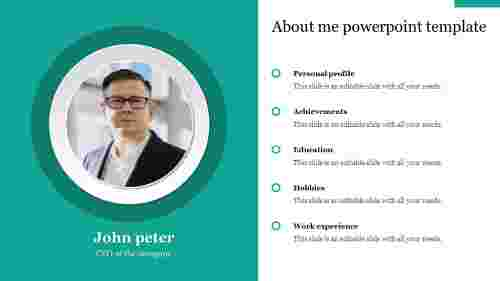 A three noded about me powerpoint template