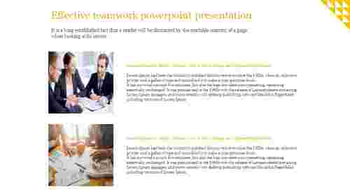 A two noded effective teamwork powerpoint presentation