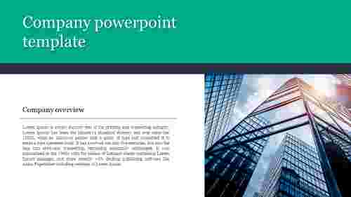 A one noded company powerpoint template