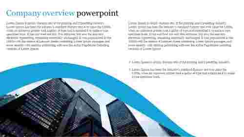 A two noded company overview powerpoint