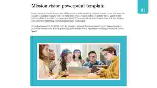 A one noded mission vision powerpoint template
