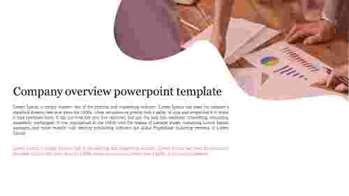 A one noded company overview powerpoint template