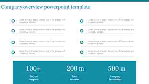 A three noded company overview powerpoint template