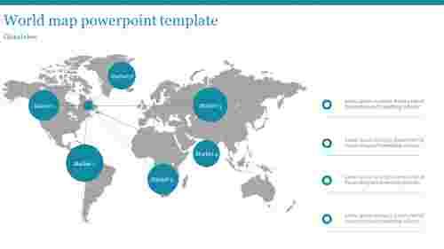 World map PowerPoint template - Global Marketing