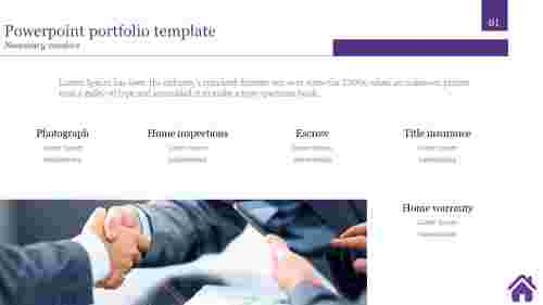 A five noded powerpoint portfolio template