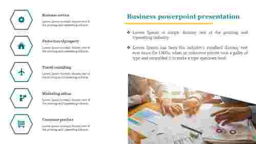 A five noded business powerpoint presentation
