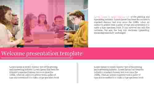 welcome presentation template