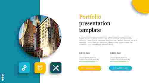 A three noded portfolio presentation template