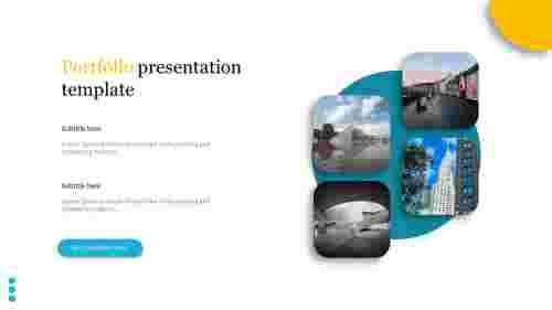 A two noded portfolio presentation template