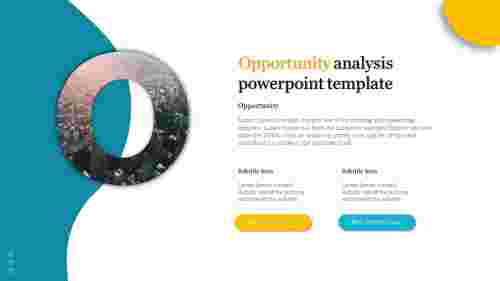 A two noded Opportunity analysis powerpoint template