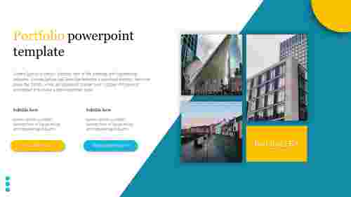 A two noded portfolio powerpoint template