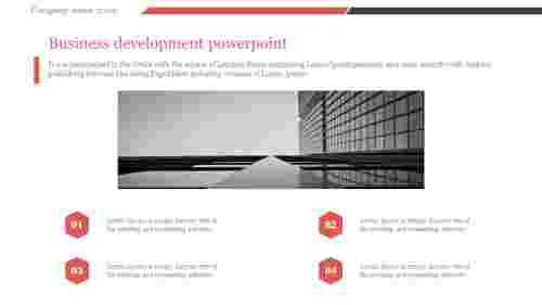 A four noded business development powerpoint
