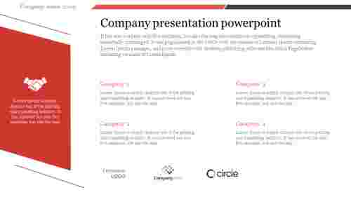 A four noded company presentation powerpoint
