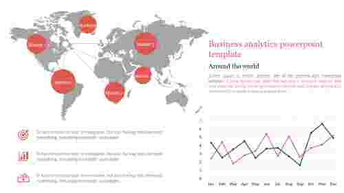 A three noded business analytics powerpoint template