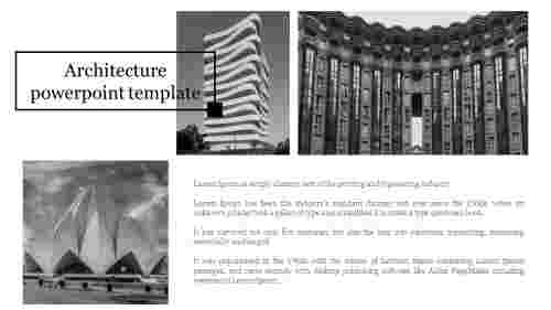 A one noded architecture powerpoint template