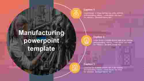 Oil and gas manufacturing powerpoint template
