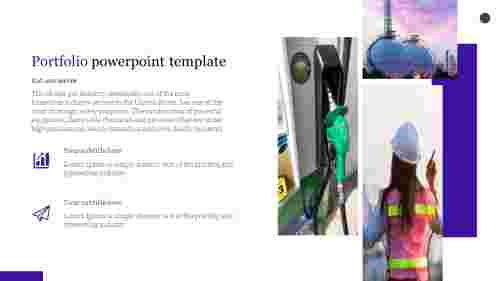 Portfolio powerpoint template for oil and gas presentation