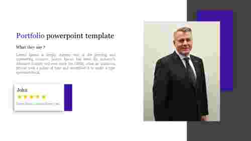 About me Portfolio powerpoint template