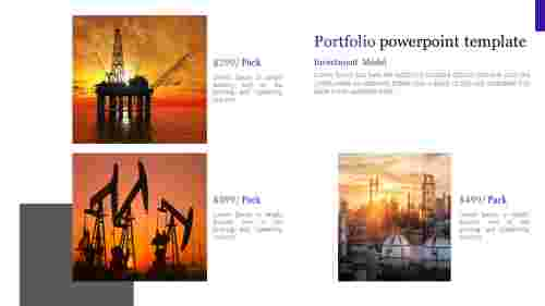 Portfolio powerpoint template for oil and gas industry presentation