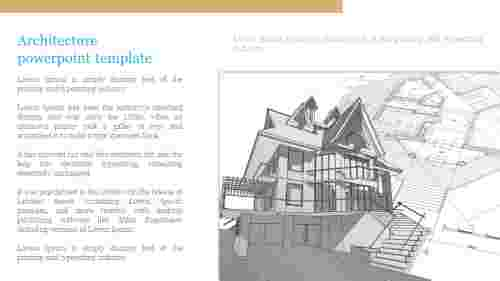 Sketch of architecture powerpoint template