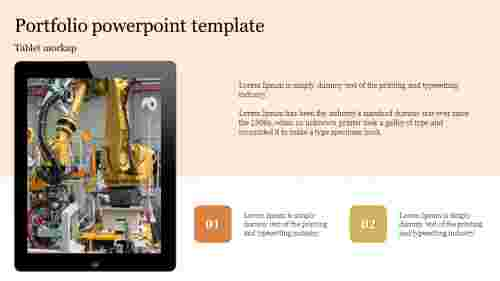 Tablet mockup Portfolio powerpoint template