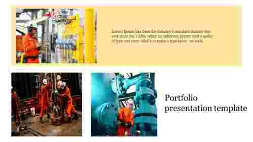 Portfolio presentation template industry presentation