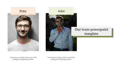 Visionary our team powerpoint template