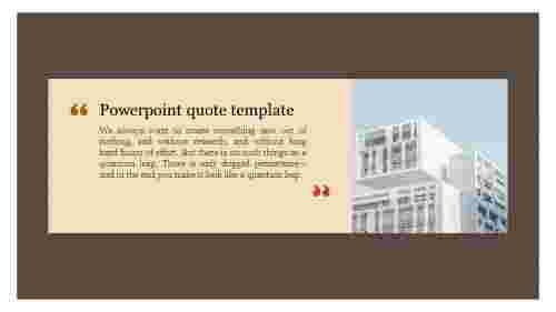 powerpoint quote template for modern architecture