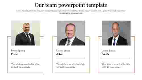 our team powerpoint template - portfolio design