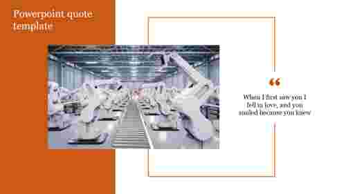 powerpoint quote template for Manufacturing presentation