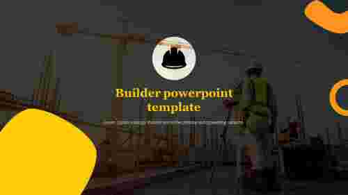 Builder powerpoint template for introduction slide