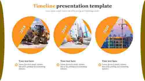 Timeline presentation template for construction filed