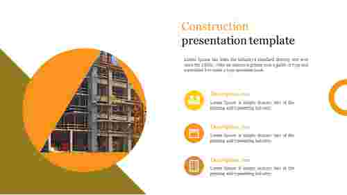 Innovative construction presentation template