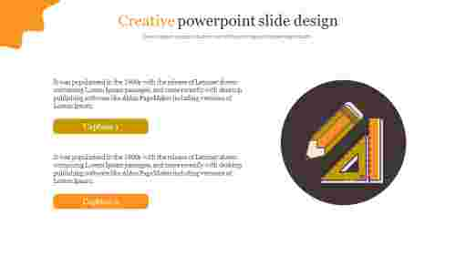 Creative powerpoint slide design
