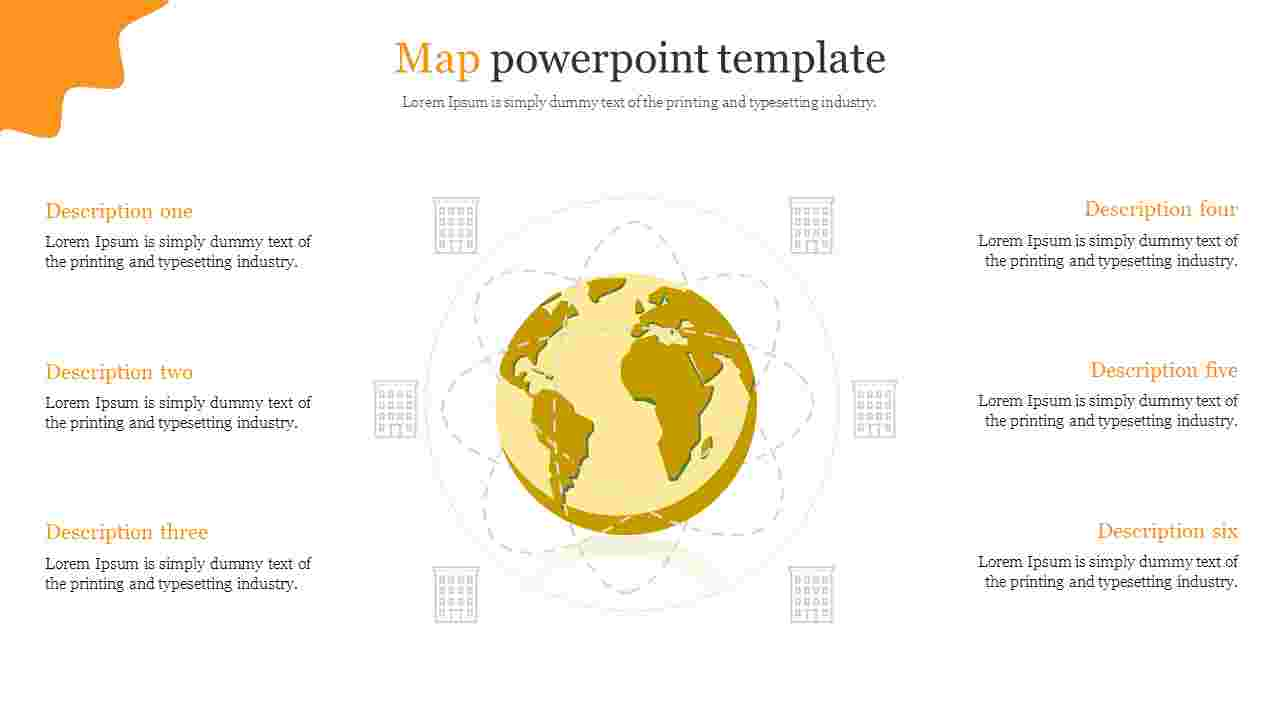 Map powerpoint template for construction presentation
