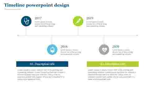 Timeline powerpoint design for medical presentation