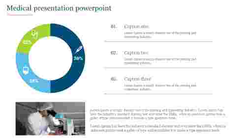 Medical presentation powerpoint with doughnut chart