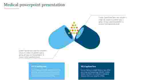 Medical powerpoint presentation with tablet diagram