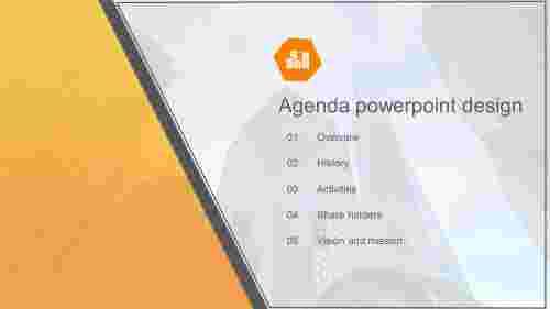 Agenda powerpoint design for company presentation