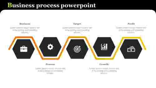 Business process powerpoint - Hexagon shape