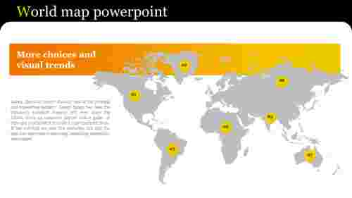 world map powerpoint for company presentation