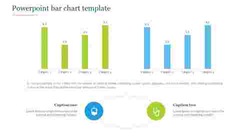 Medical powerpoint bar chart template