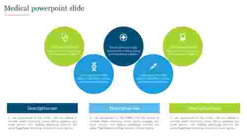 Medical powerpoint slide -  Circle design