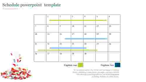 Schedule powerpoint  template for medical presentation
