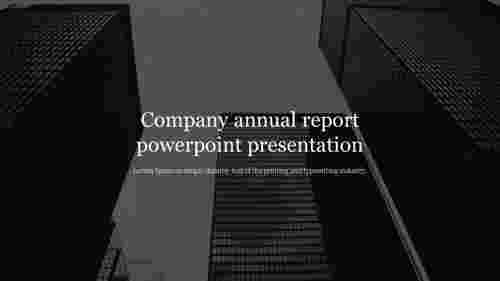 Company annual report powerpoint presentation for introduction