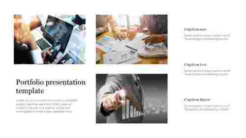 Portfolio presentation template for business